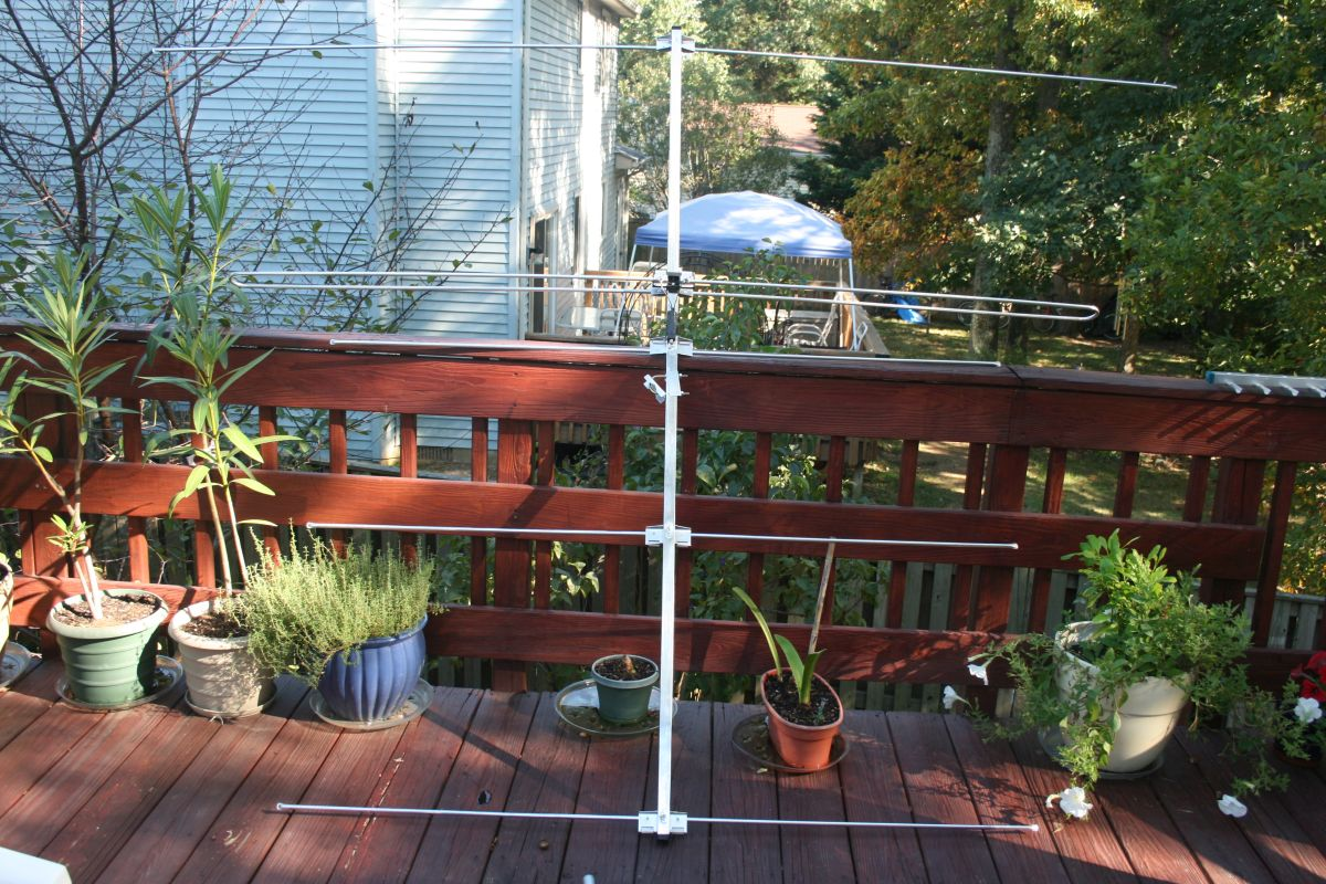 Antenna is a 5-element Yagi designed for low-VHF TV