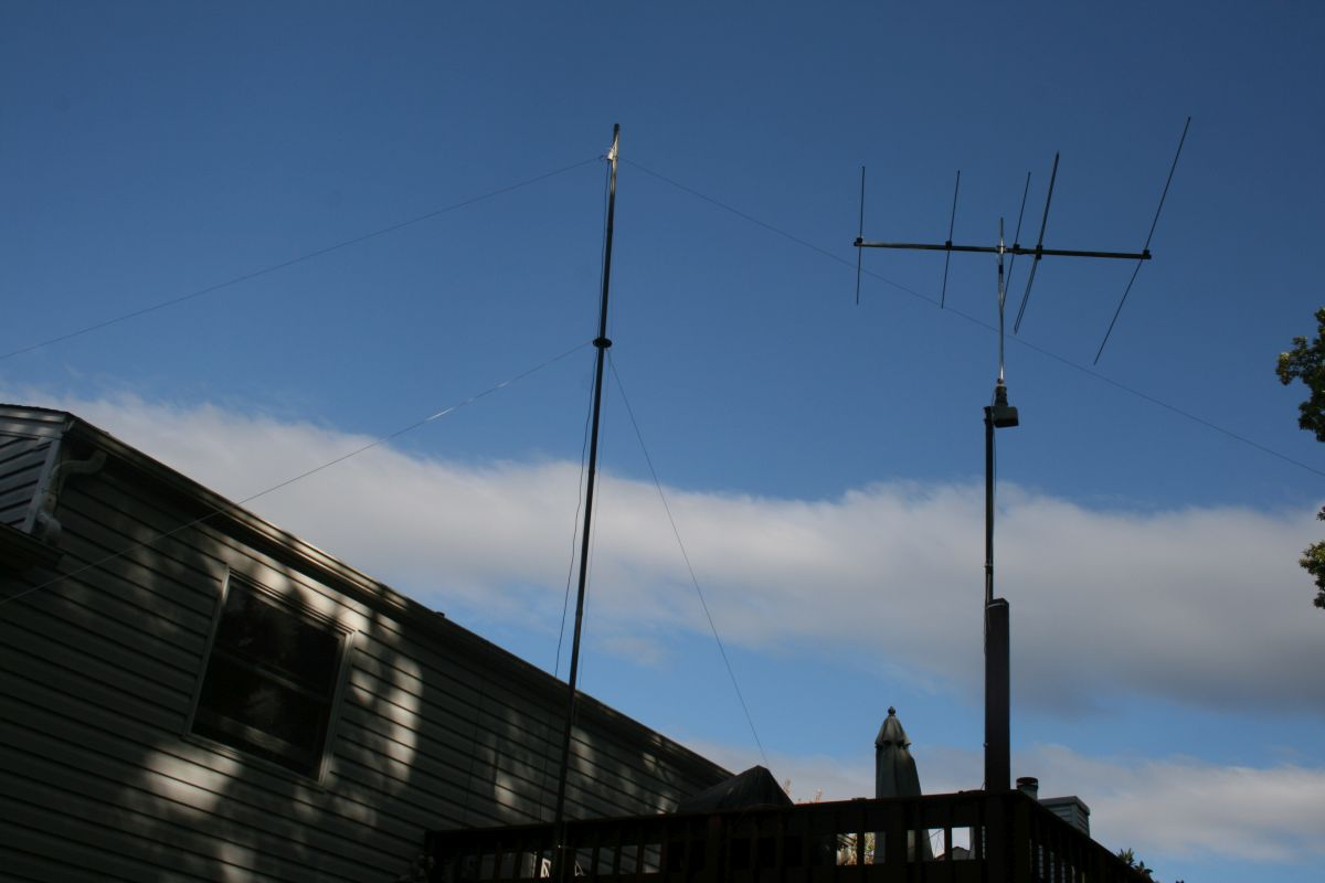 Antenna pointing North-West